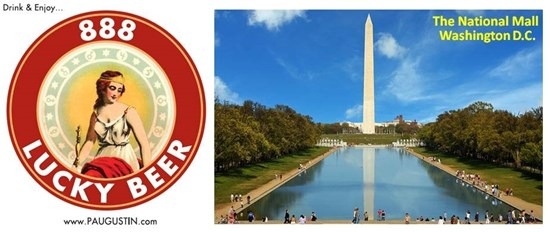 National Mall and 888 Lucky Beer Logo