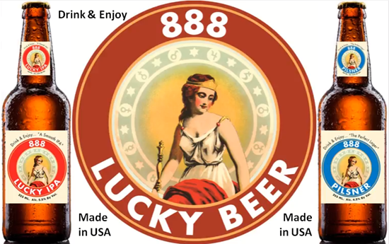 888 Lucky IPA and 888 Pilsner Brands